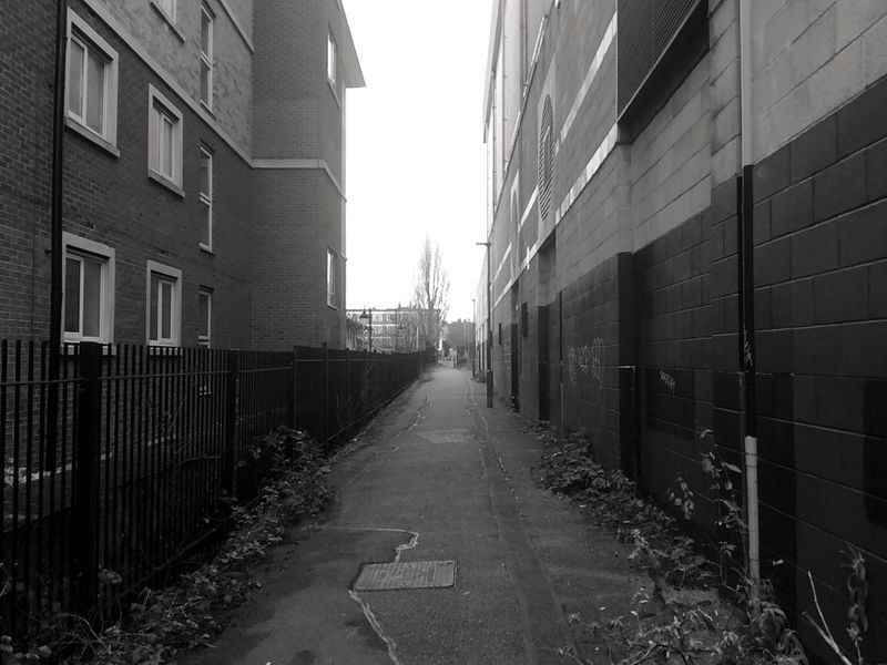 Alley in North London Alley Alleyway Architecture Backalley Building Exterior Built Structure City Day Footpath Pavement
