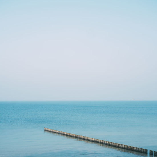 Ostsee Strand Winter Beauty In Nature Blue Clear Sky Cold Day Horizon Horizon Over Water Nature No People Outdoors Scenics Sea Sky Tranquil Scene Tranquility Water