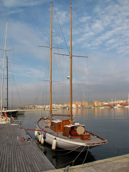 Beauty In Nature Boat Cloud Cloud - Sky Cloudy Day Harbor Idyllic Mast Mode Of Transport Nature Nautical Vessel No People Ocean Outdoors Port Of Tarragona-Spain Sailboat Scenics Sky Tourism Tranquil Scene Tranquility Travel Destinations Water