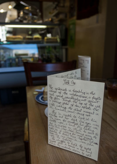 Focus On Foreground Selective Focus Table Writer In Residence Writing By Sara Clark