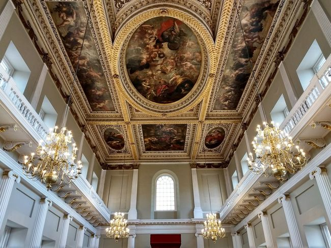 The Purist (no Edit, No Filter) London Royal Palace Painting Palace Banketing House Architecture Ceiling Religion Low Angle View Built Structure Ornate Indoors  Travel Destinations History No People