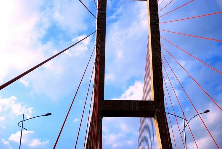 the sky's strings Architecture Bridge Eye4photography  This Is Indonesia