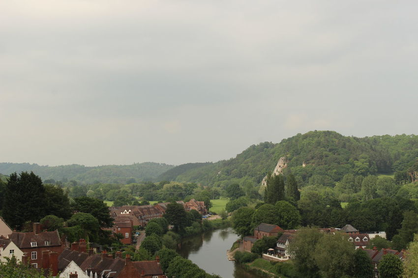 Beauty In Nature Bridgnorth Environment Mountain No People Residential District Scenics - Nature Sky Town Water