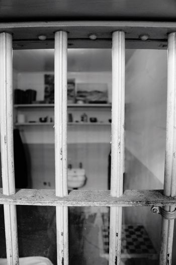 Window Indoors  No People Architecture Built Structure Day Close-up Prison Bathroom Toilet Bowl Survival Focus On Foreground