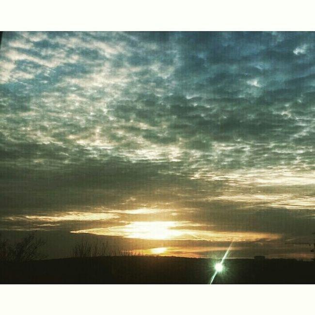 Sunset #sun #clouds #skylovers #sky #nature #beautifulinnature #naturalbeauty #photography #landscape Clouds And Sky Autumn Colors Gunes Dogarken Silhouette