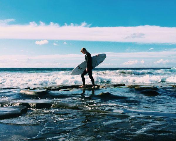 Morning Swell. Blue Wave La Jolla Surf