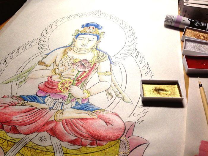 Art YohkoAmaterraArt Drawing Aryavalokitesvara Buddhism My Drawing Create My Art Work