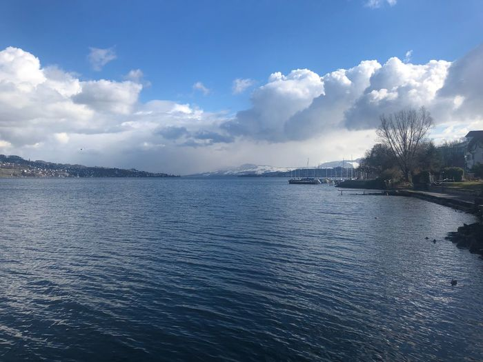 #zurich Sky Cloud - Sky Water Beauty In Nature Nature Scenics No People Outdoors Blue Sea Tranquil Scene Tree First Eyeem Photo