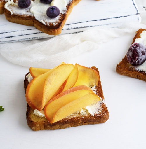 Baked Bread Breakfast Cake Close-up Dessert Food Food And Drink French Food Freshness High Angle View Indoors  Indulgence No People Plate Ready-to-eat SLICE Snack Still Life Sweet Sweet Food Table Temptation