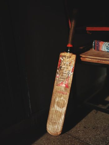 Old Aged Cricket! Wooden Bat Shadows 🏏cricket Fever Day Close-up Indoors  Wood - Material Table No People