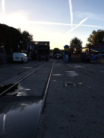 ▽ Track Reflections Chemtrails Raw Blue Hour Sky City Cloud - Sky