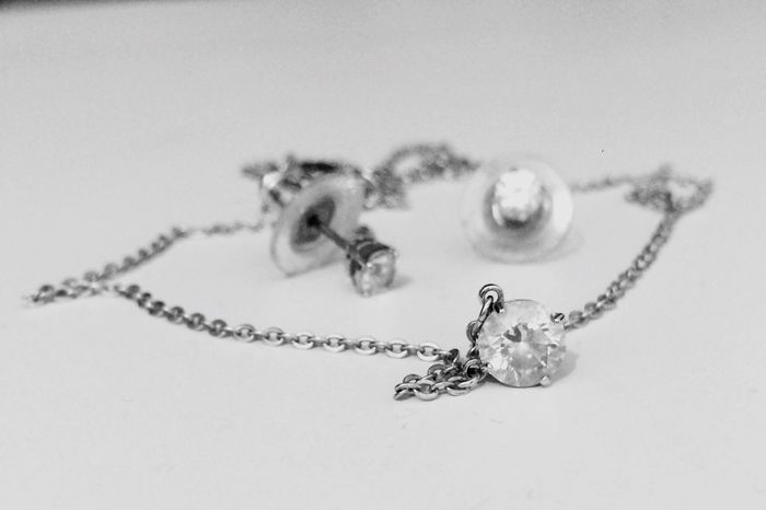 Diamonds Are A Girl's Best Friend Swarovski Crystal Black And White