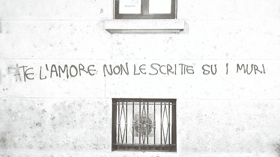 Make love, not Graffiti on walls Communication No People Building Exterior Outdoors Graffitiwall Graffiti Blackandwhite Black And White Black & White City Life