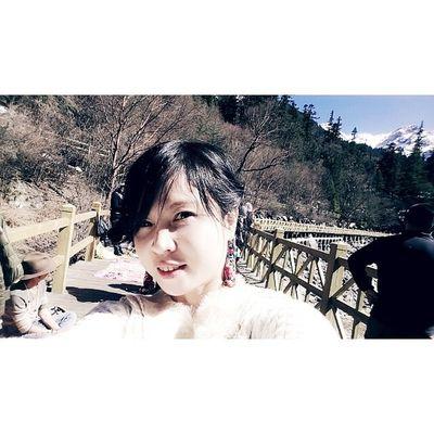 20140316 ColourfulLake Jiuzhaigou China SelfCaptured