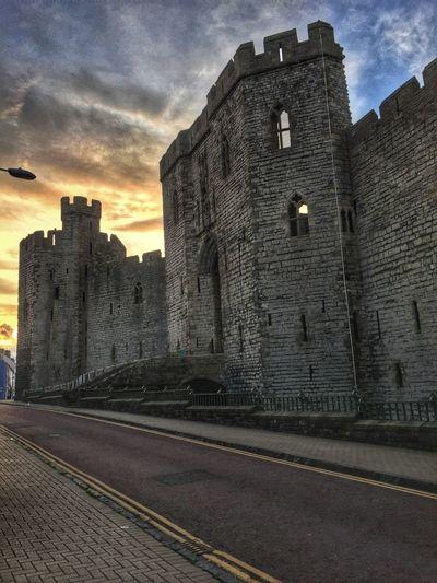 Castle Caernarfon Cloud Sky History