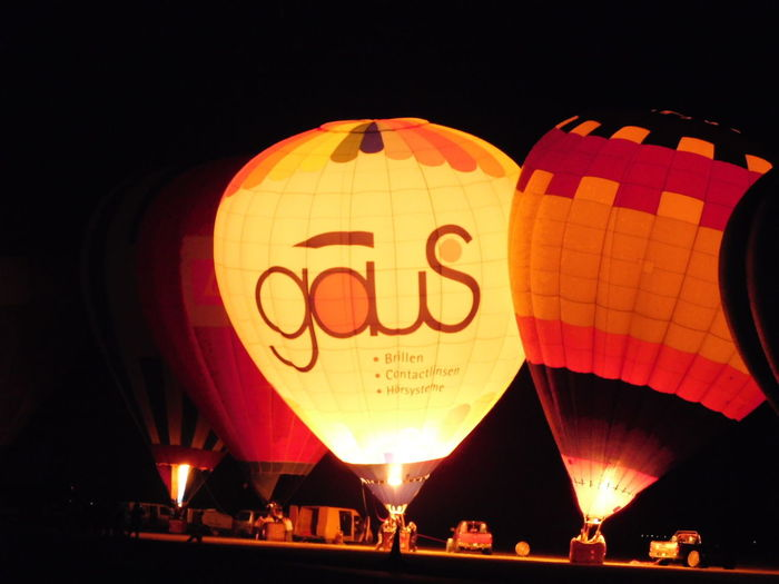 Air Ballons Flying Days Night Light Show Szeged