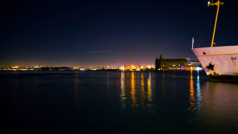 Night Reflection Water No People Outdoors Illuminated Travel Destinations Architecture Building Exterior Cityscape City Sea Nautical Vessel Sky