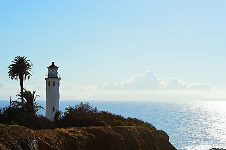 Clear Sky Travel Destinations Sea No People Architecture Outdoors Lighthouse Lighthouse_lovers Point Vincente Ocean 2016 Palos Verdes, CA Middaysun Travel Sky