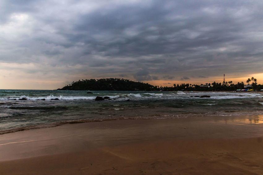 Sea Beach Dramatic Sky Wave No People Scenics Nature Mirissabeach