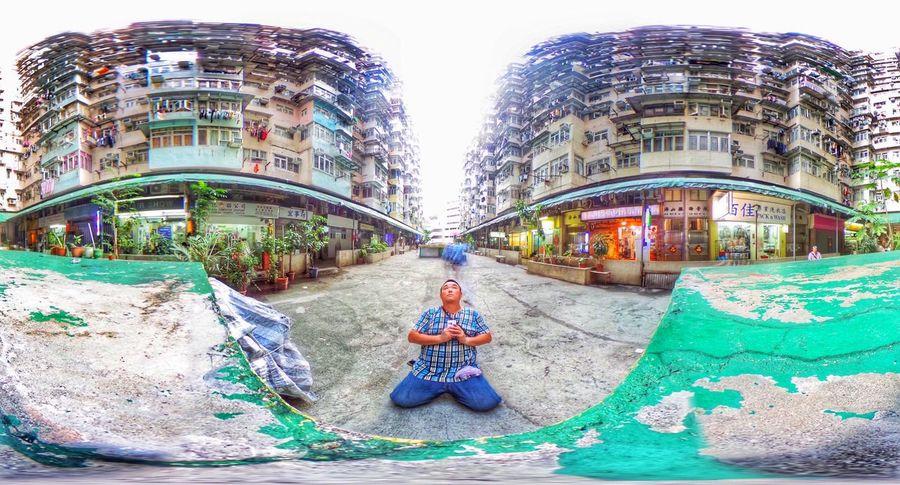 自撮り Theta360 HongKong