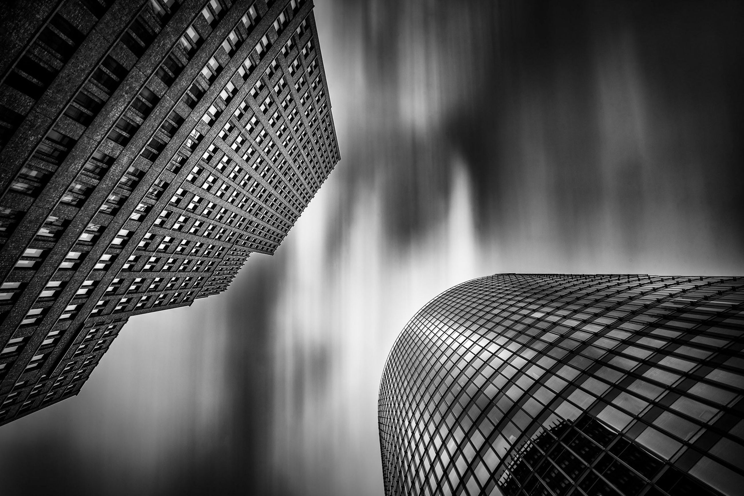 built structure, architecture, building exterior, building, office building exterior, modern, no people, day, office, tall - high, skyscraper, low angle view, outdoors, focus on foreground, city, nature, close-up, pattern, window, luxury
