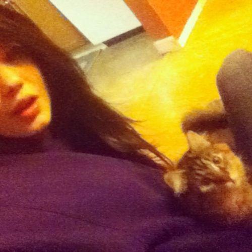 My best friend (: Bestfriend Kitty Cute Melow happiness furball emma