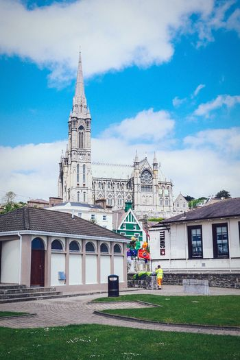 Last view Cork Cobh Urban Church Architecture Ireland Ireland🍀 Building Seaside Blue Cities Titanic Irelandinspires Ireland_gram Architecturelovers Church Tower People Sky Cloud