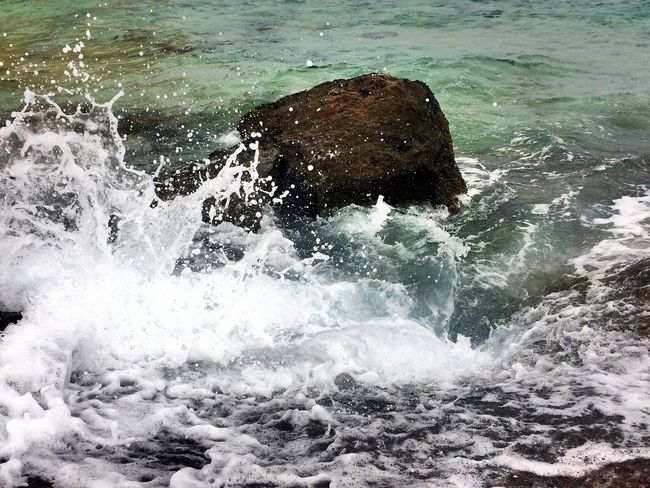 Rock Water Crash Red Sea Memories Ras Mohamed Egypt