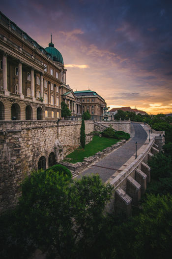 Buda Castle Architecture Buda Buda Castle Budapest Castle City Hungary Architecture Building Building Exterior Cloud - Sky Historical No People Palace Sky Sunset Tourism Travel Travel Destinations