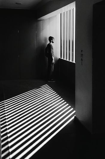 Black And White Friday One Man Only Adult One Person Architecture Day Men Full Length Pattern, Texture, Shape And Form Light And Shadow Chasing Light EyeEm Ready