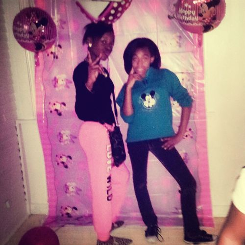 ' meee & my guhhh christyy yesterday at the party Yasssboo