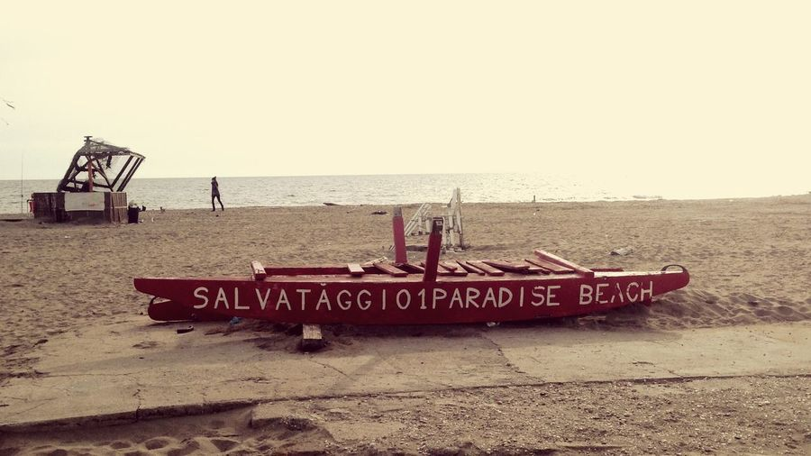 Paradise beach Beach Italy Rome Paradise Sun Sunday IPhone Iphone Fotography Sand Boat Red Sky Lost Gottameansomething