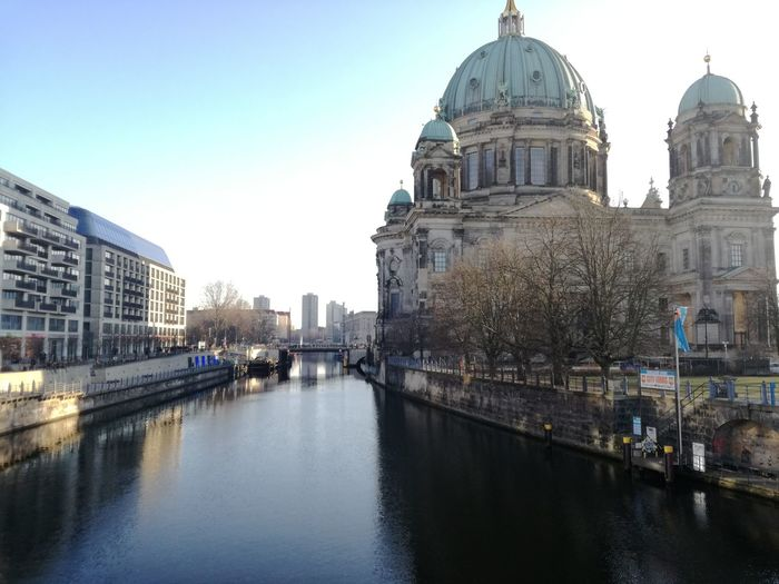 Architecture Building Exterior Dome City Reflection Built Structure Sky Travel Destinations History Outdoors Low Angle View Sunset No People TripCityscape Water Day Berlin Streetphotography Low Angle View The City Light