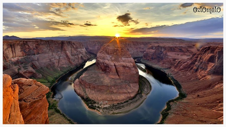 Horseshoe Bend Sunset Beauty In Nature Nature Landscape First Eyeem Photo