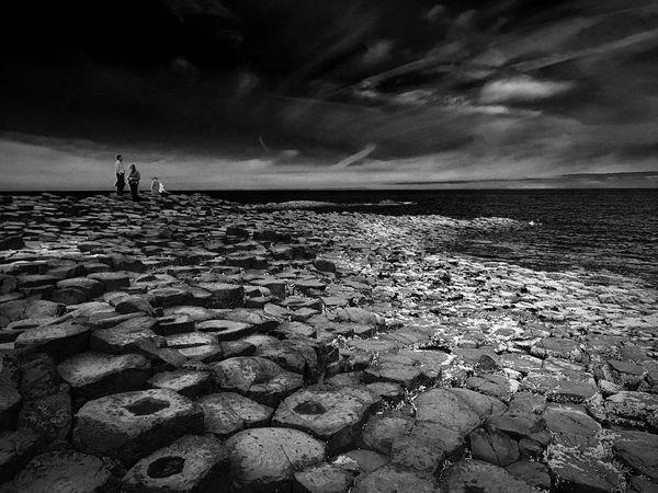 Giants Causeway Northern Ireland Ireland Antrim Ulster World Heritage Site By UNESCO United Kingdom Atlantic Ocean Rock Formation Basalt Columns Legends Seaside Seashore Geological Formation Geology Volcanic Rock Lava Flowing Into The Ocean Bushmills The Week On EyeEm