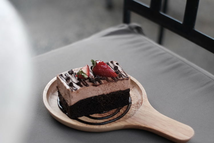 Sweet Food Food Sweet Dessert Food And Drink Indulgence Temptation Still Life Cake Ready-to-eat Freshness Baked Chocolate Unhealthy Eating Berry Fruit Table Indoors  Plate No People Chocolate Cake Fruit Garnish
