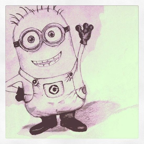 Cartoon Minion  Despicableme Drawing Sketching TP