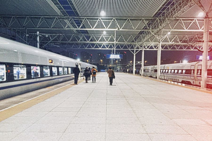 Train Station Train High Speed China People From My Point Of View Light And Shadow