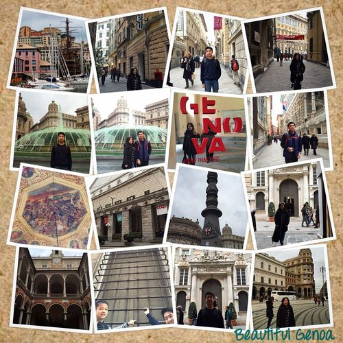 All about Genoa.... Good Weather ♥ Arrived In Genoa Awesome Genoa Love Traveling Family Holiday Europe Trip Taking Photos Photocollage Genoa Italy Wintertime