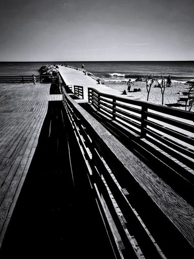 Wood Sea Horizon Over Water Beach Outdoors Day Vacations Water Clear Sky Travel Destinations Scenics Nature No People Sky Mediterraneo Fotografandolitalia Week On Eyeem Summer Beauty In Nature Selinunte Black And White Photography Leica_camera Vacations