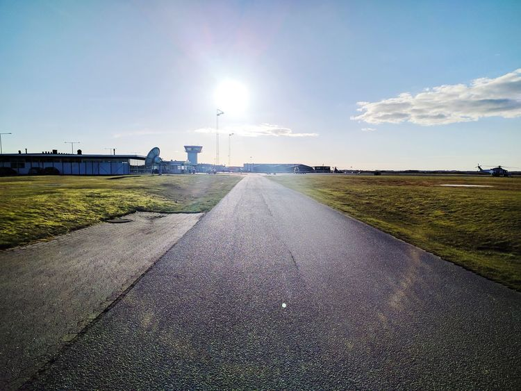Esbjerg Airport Day Sky Outdoors Road No People