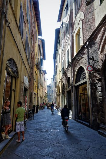 narrow street Adult Adults Only Architecture Building Exterior Built Structure City Day Men Outdoors People Real People Sky The Way Forward