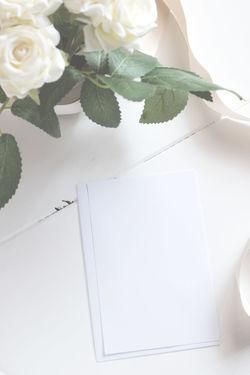 Blank Card With Flower Bouquet. Blackboard  Blank Bucket Card Chalkboard Design Flower Flower Bucket Frame Mock-up Mockup Paper Picture Picture Frame Postcard Rose🌹 Shabby Chic