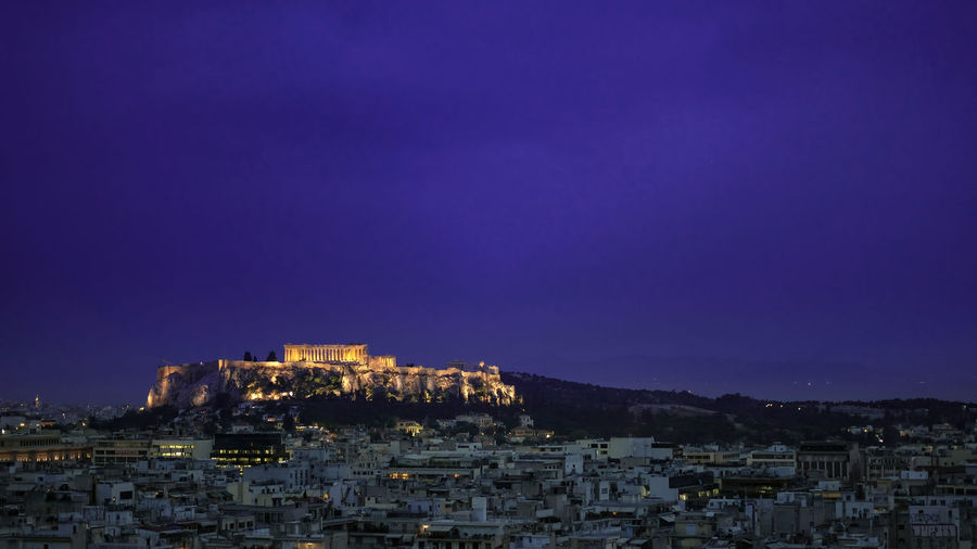 Early evening upon the Acropolis & mighty Parthenon, Athens, Greece. Architecture Athens Night Nature City Sky Dusk Blue Building Outdoors Illuminated Cityscape Mountain Parthenon Acropolis, Athens Athens City Acropolis Athens, Greece Acropolis View Travel Destinations Building Exterior Residential District Built Structure Parthenon Acropolis Greece Parthenon Greece Crowded Crowd Copy Space Clear Sky History TOWNSCAPE