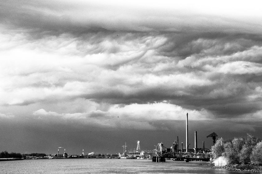 Antwerpen Blackandwhite Photography Cloud - Sky Dramatic Sky Schelde Ship Waterfront Weather