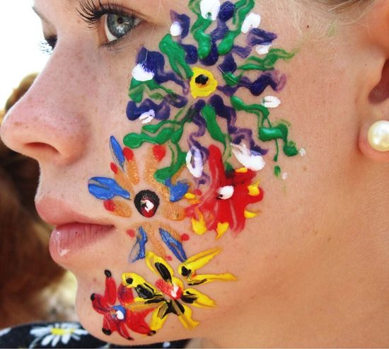This is old but I love it Close-up Beautiful Woman Creativity Face Paint Mix Yourself A Good Time Inner Power Summer Exploratorium