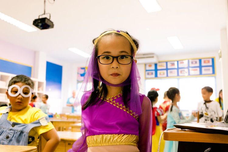 Classroom Learning Thailand Culture Halloween Elementary School People