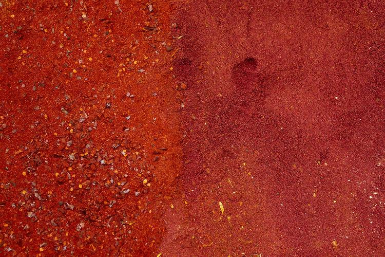 Full frame shot of red star shape