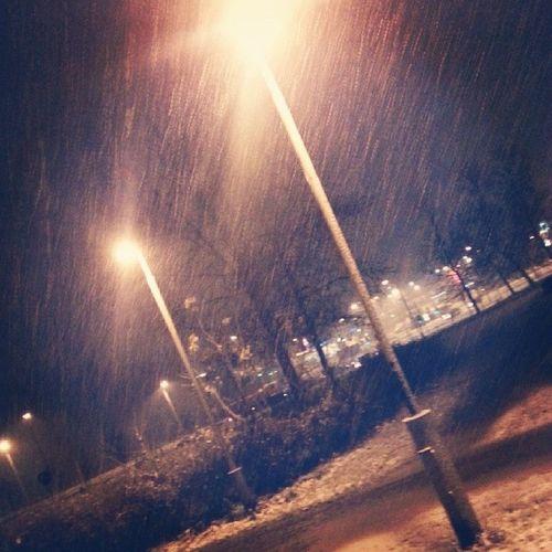 снег  утро ^^