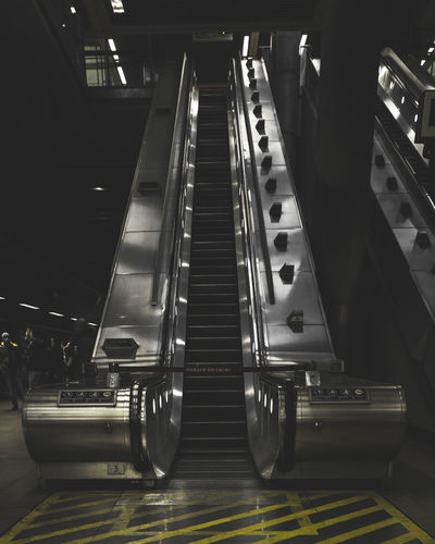 Take the stairs London Absence Architecture Built Structure Ceiling Connection Convenience Escalator Illuminated Indoors  Low Angle View Mode Of Transportation Modern Moving Walkway  No People Public Transportation Railing Staircase Steps And Staircases Subway Station Technology Transportation